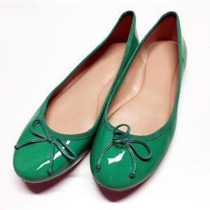 Banana Republic Green Ballet Flats Sz 9.5